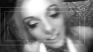British blonde gets fucked dressed in pink fishnets