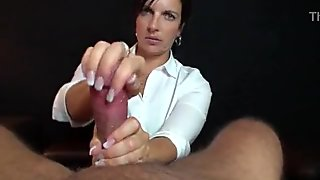 Busty Teen Amy blow and hand job for her BF