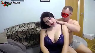 BBW sucking dick deeply and sensually fucking after work