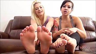 Aubrey Gold & Kimmy Lee Soles & Feet humiliation Brattyfootgirls.com
