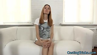 Newbie teen fucked at sexaudition
