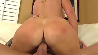 Stunning blonde toys pussy