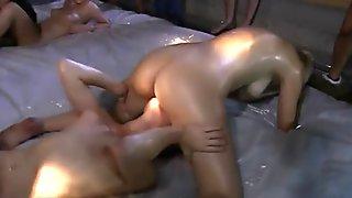 Blonde cam slut in a black thong sucks big dick