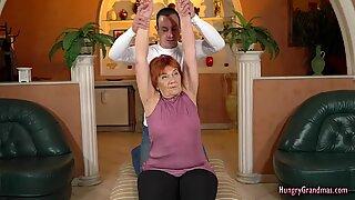 Redhead Granny Fucks Really Hard With a Hard Cock