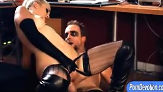 Kinky blonde whore Aubrey Gold in boots fucked real deep