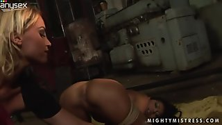 Dirty horny bitch called KATHIA NOBILI treats kinky brunette in rough way