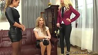 Bizarre lesbos pissing