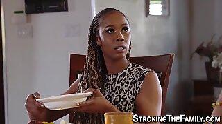 black stepmom facialized