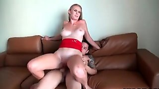 Hung Stud Pounds Two Blonde Strippers At Home
