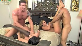Swinger couples chamge partners. Nikki Daniels gets fucked