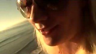 Missy Woods amateur blonde teen girlfriend blowjobs in a