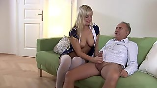 Old stud and a blondie