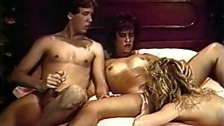 Amazing pornstars Ginger Lynn and Dorothy Onan in fabulous threesomes, brunette xxx video