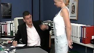 Boss tells secretary what she needs to let him do