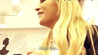 Real nasty blonde amateur sucks and fucked at the mall