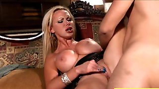 Massive hooters milf Nikki Benz throated and pounded